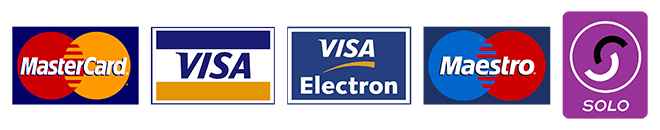 Mastercard, Visa, Visa Electron, Maestro, Solo